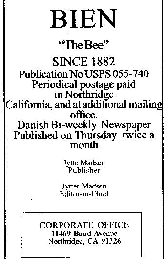 Royal Danish Guards Association of California, Kaliforniens ...